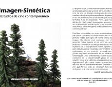 """""""El pintor romántico 1"""" en la portada del libro Imagen-Sintética Estudios de cine contemporáneo de José Miguel Santa Cruz,  Ediciones Metales Pesados."""