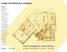 Exposición Ocupa: 24 artistas & 1 curadora, 29 de Diciembre del 2011