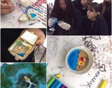 Charla y taller de micro paisajes en Colegio Boston College de Maipú para su semana de las artes