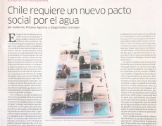 """Inclusión de mi trabajo """"Remed(i)ando Naturaleza"""" en el artículo """"Chile requiere un nuevo pacto social por el agua"""" de Le Monde Diplomatique, edición mayo 2018"""