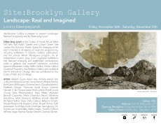 """Exposición """"Landscape: Real and Imagined"""" en Site: Brooklyn Gallery, Nueva York, 16 de Noviembre hasta el 15 de Diciembre 2018"""